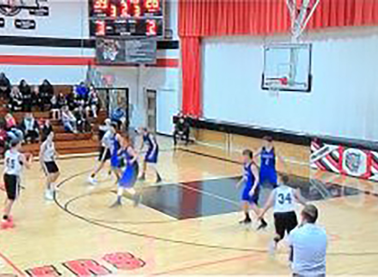 Basketball television screen capture
