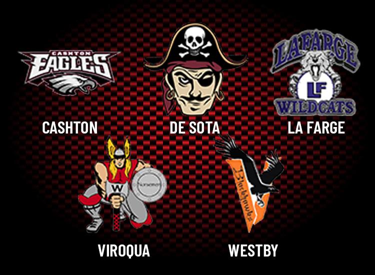 School channels: Cashton, De Sota, La Farge, Viroqua, Westby