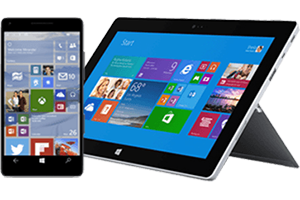 Smartphone and Windows tablet